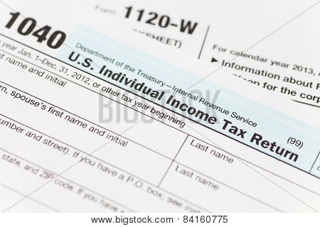 US Tax income form