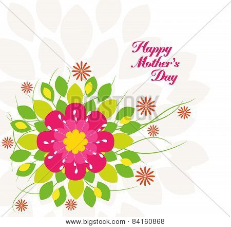 Mothers's Day flower background colorful