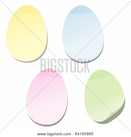 Easter Eggs Sticky Notes