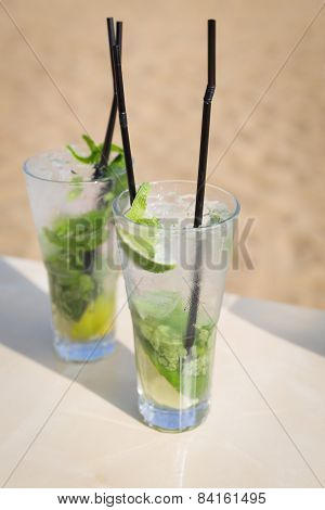 Mojito Mohito Mint Drink Freshness Cocktail On Beach