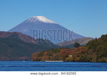 Mountain Fuji and lake ashi
