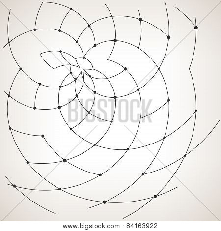 Geometric vector pattern,curves and nodes