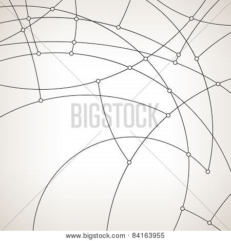 Geometric vector pattern,curves and circles