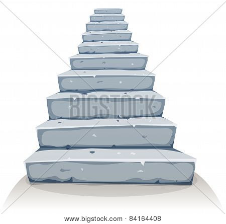 Cartoon Stone Stairs