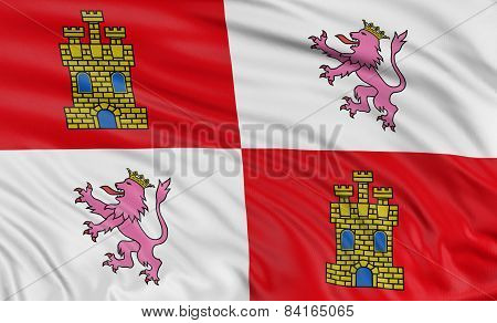 3D Castile and Leon flag