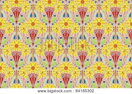 sunflowers wallpaper, light