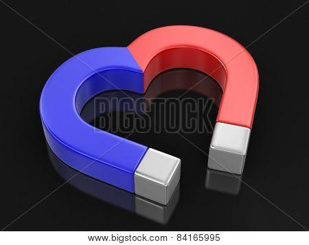 Magnet heart (clipping path included)
