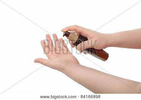 Asian Woman Hand Hold Lotion