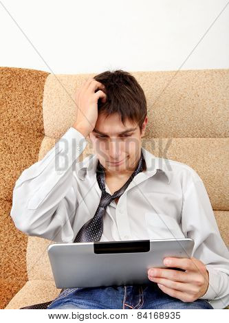 Troubled Teenager With Tablet