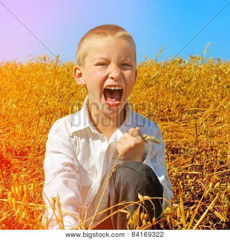Kid In The Summer Field