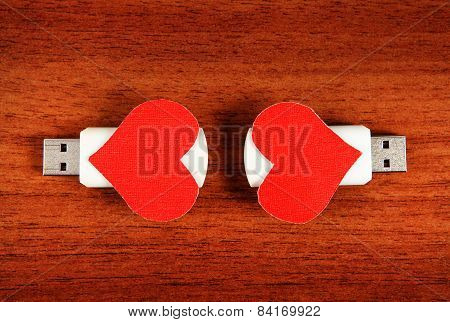 Usb Flash Drives With Heart Shapes