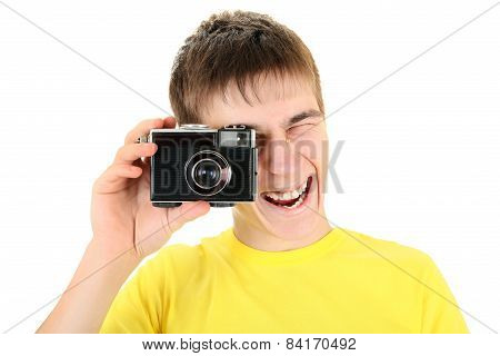 Teenager With Photo Camera