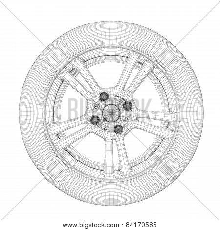Wheel Wire Model