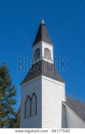 Clock Tower of Milner Chapel in Langley British Columbia