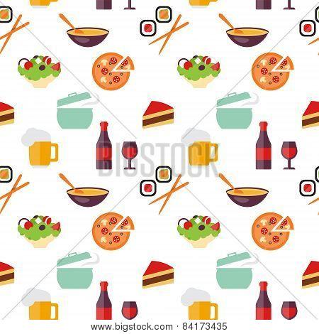 Seamless restaurant pattern