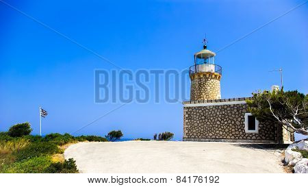 Lighthouse In Zakynthos Island, Greece