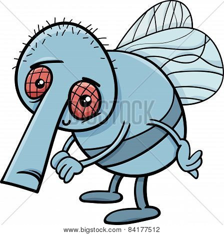 Funny Fly Cartoon Illustration