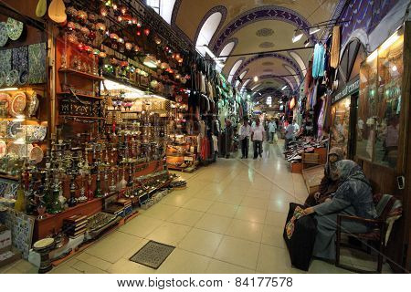 The grand Bazaar In Istanbul Turkey