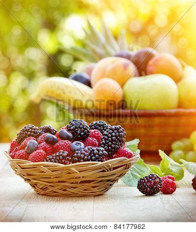 Fresh organic berry fruits