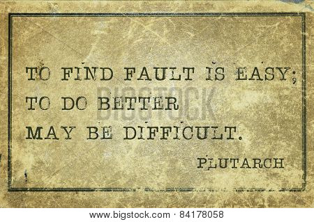 Find Fault Plutarch