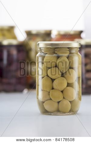 Pickled Green Olives