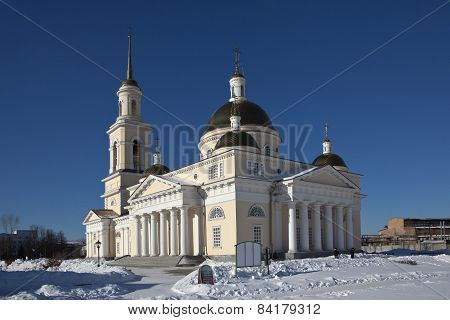 Transfiguration Cathedral. Nevyansk. Sverdlovsk region. Russia.