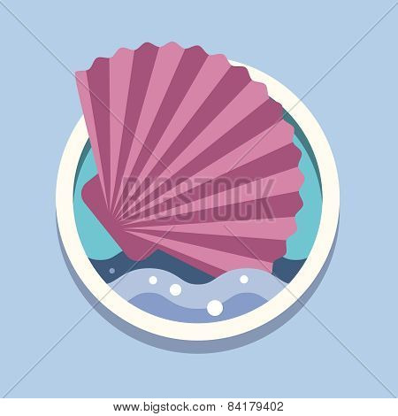 Sea shells. Travel, flat style vector