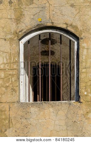 Barred window opening
