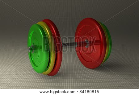 Adjustable Multicolor Dumbbell