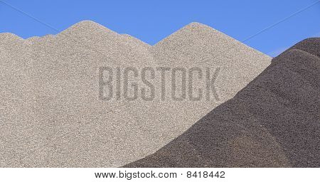 Mixed Gravel Pile for Winter Road Traction