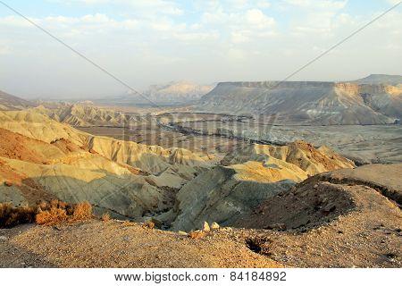 Canyon Ein-avdat In Negev Stony Desert