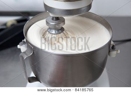 Churning Mass In Confectionery Machine