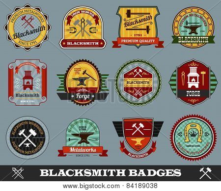 Blacksmith Badges Set