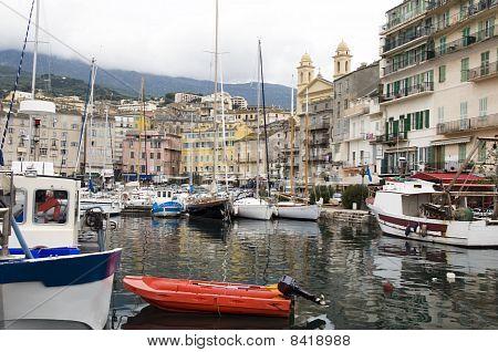 Old Port Harbor Bastia Corsica France