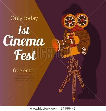 Film festival advertising poster