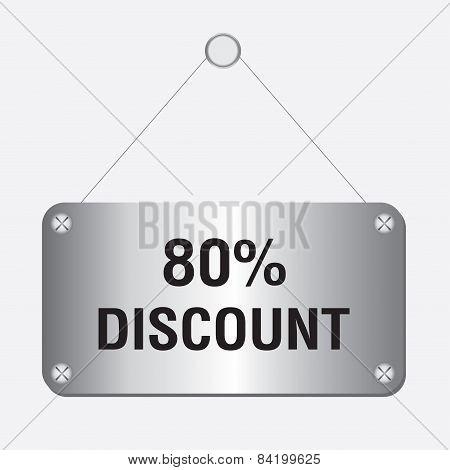 silver metallic 80 percent discount