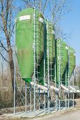 image of silos  - agricultural silos for the storage of feed - JPG