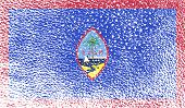 pic of guam  - Flag of Guam with old texture - JPG
