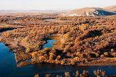 stock photo of wetland  - The genhe river of hulun buir   wetland in China - JPG