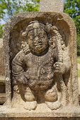 picture of carving  - Ancient carving in Anuradhapura Sri Lanka - JPG