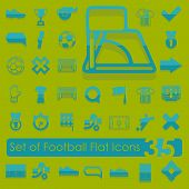 foto of offside  - It is a set of football flat icons - JPG