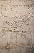 foto of ptolemaic  - Detail of relief   in the Precinct of Amun - JPG