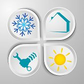 pic of air conditioner  - Air conditioner repair symbols for the business vector - JPG