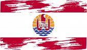stock photo of french polynesia  - Flag of french polynesia with old texture - JPG