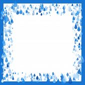 stock photo of tears  - Raindrops natural eco background frame water or tears - JPG