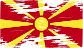 pic of macedonia  - Flag of Macedonia with old texture - JPG