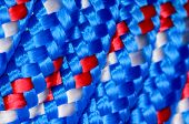 pic of braids  - Background Texture Of The Blue Braided Rope  - JPG