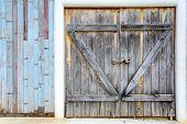 pic of wooden door  - Old vintage wooden door with wooden textured - JPG