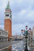 image of flood  - The flooded Piazza San Marco in Venice Veneto Italy - JPG