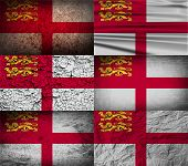pic of sark  - Flag of Sark with old texture - JPG